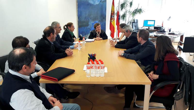 María Luisa Real se reúne con la nueva dirección de la Federación de Sanidad de Comisiones Obreras