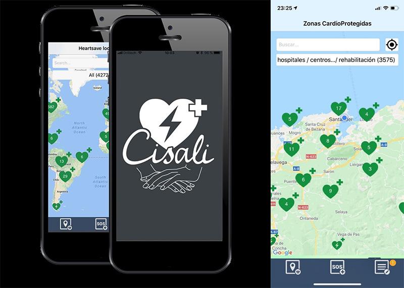 Sanidad colabora con una aplicación gratuita para localizar desfibriladores en cualquier lugar del mundo