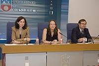 Leticia Díaz durante su comparecencia en rueda de prensa (Foto: José Román Cavia Soto)